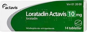 Loratadin Actavis, tablett, 10 mg, 14 st