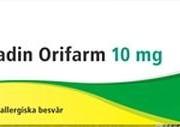 Loratadin Orifarm, 10 mg, 10 st