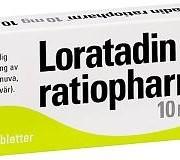 Loratadin Ratiopharm, 10 mg, 10 st