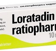 Loratadin Ratiopharm, 10 mg, 28 st