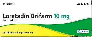 Loratadin Orifarm, 10 mg, 14 st